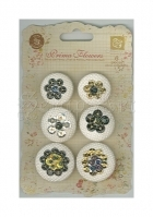 knoflíky - Shalimar Collection Chrisitta Buttons 6 pkg Prima Marketing