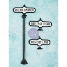 kovové dekorace - Antique Street Signs Shabby Chic Treasures Metal 7 Prima Marketing Inc