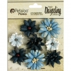 Blue Teastained Mini Mix Flowers Petaloo International