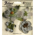 Grey Mixed Textured Blossoms - Petaloo International