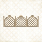 Lattice Fence Chipboard - Blue Fern Studios