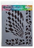 "Luscious Leaves 9x12"" - Dylusions Stencils"