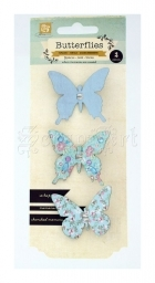 motýlci - Butterfly Clips Blue Prima Marketing