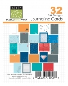 The Adventures Of Journaling Cards 3 x 4 - Bazzill Basic Paper
