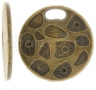 Patterned Disc  2ks - Brass