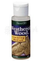 praskající médium na dřevo - Weathered Wood Crackling Medium 2oz Americana DecoArt