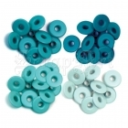 průchodky - Wide Eyelets Aqua We-R-Memory Keepers