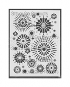 Circle 9 Stencil L016 - StencilGirl Products