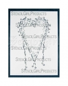 Heart Stencil L032 - StencilGirl Products