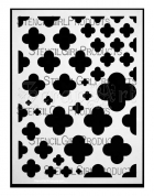 Quatrefoil Mix Stencil L174 - StencilGirl Products