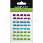 samolepicí dekorace - Adhesive Enamel Arrows Purple-Blue-Green Eyelet Outlet