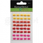 Adhesive Enamel Arrows 40 Pkg Yellow-Red-Pink - Eyelet Outlet