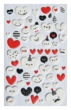 samolepicí dekorace - Balloon Heart Puffy Stickers