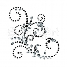 Say It In Crystals Vintage Swirl Black and Clear 540647 - Prima Marketing