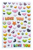 samolepicí dekorace - I Love You Puffy Stickers