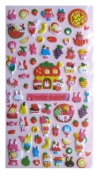 samolepicí dekorace - Pretty Rabbit Mini Puffy Stickers