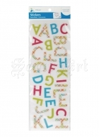 Puffy Alphabet Stickers Vibrant