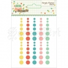 samolepicí dekorace - Summer Vibes Enamel Dots Embellishments Simple Stories