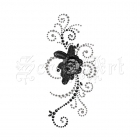 Say It In Swirl W Flower Black Diamond 544522 - Prima Marketing
