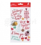 samolepicí dekorace - We Go Together Epoxy Stickers Phrases American Craft