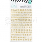 samolepky - Alphabet Stickers 2 Sheets Memory Planner Gold and Pink Heidi Swapp