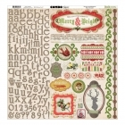 Christmas Collage Combo Sticker - Bo Bunny