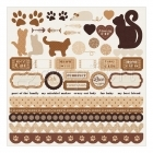 samolepky - Furry Friends Cardstock Stickers Cat - Kaisercraft