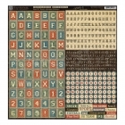 Good Ol´ Sport Alphabet and Words - Cardstock Stickers 12 x 12 - Graphic 45