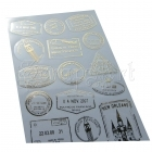 samolepky - Mark Clear Stickers Gold