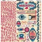 Modern Miss Combo Sticker - Bo Bunny