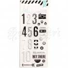 samolepky - Numbers Puffy Stickers Black and White Heidi Swapp