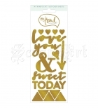 samolepky - On Trend Cardstock Stickers Awesome Gold Foil My Mind´s Eye