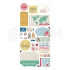 samolepky - Stickers Mint Julep Title Basic Grey