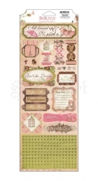 samolepky - Sweet Girl Cardstock Stickers Little Miss Bo Bunny