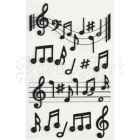samolepky - Stickers Dimensional Music Notes