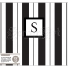 "scrapbook album - Monogram Post Bound Album 12x12"" Black & White Cabana Stripe K&Company"