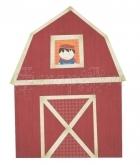 Cock-a-doodle-doo! 12 x 12 Die Cut - Barn