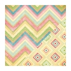 scrapbooková čtvrtka - Detailed Chevron / Diamond Ikat Ambrosia - Bazzill Basic Paper