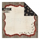 scrapbooková čtvrtka - Hound Dog Double-Sided Cardstock Doggie Life