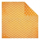 Orange Citrus Dot Chevron - Bo Bunny