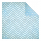Powder Blue Dot Chevron - Bo Bunny