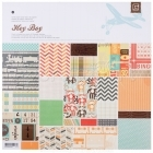 Hey Boy Paper Pad 12 x 12 Basic Grey