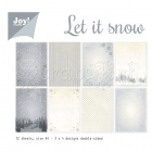 scrapbookové čtvrtky - Paper Set Let it snow Joy!Crafts