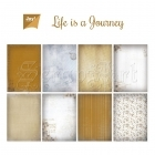 scrapbookové čtvrtky - Paper Set Life is a Journey Joy!Crafts