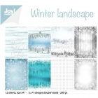 scrapbookové čtvrtky - Paper Set Winter landscape Joy!Crafts