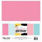 "scrapbookové čtvrtky 12 x 12"" - Coordinating Solids Paper Pack Magical Birthday Girl Echo Park"