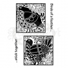 silikonová razítka - Clear Stamps Bird Blocks Woodware Craft Collection