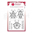 silikonová razítka - Stamps Clear Singles Cute Bugs Woodware Craft Collection