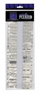 Perfectly Pleated Sheet Newsprint - Bazzill Basic Paper