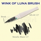 Wink of Luna Brush Black Metallic - Kuretake
